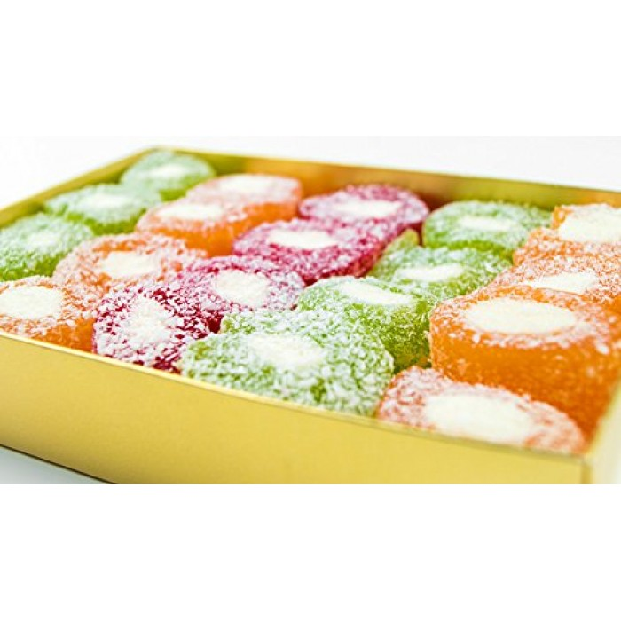 Fresh Turkish Delight | Special Rainbow Flavour | Gift  |450g