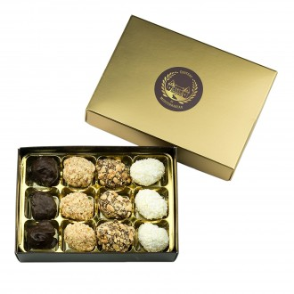 Mini Dates with Belgian Chocolate | 12 Pieces | Chateau de Mediterranean | Gift