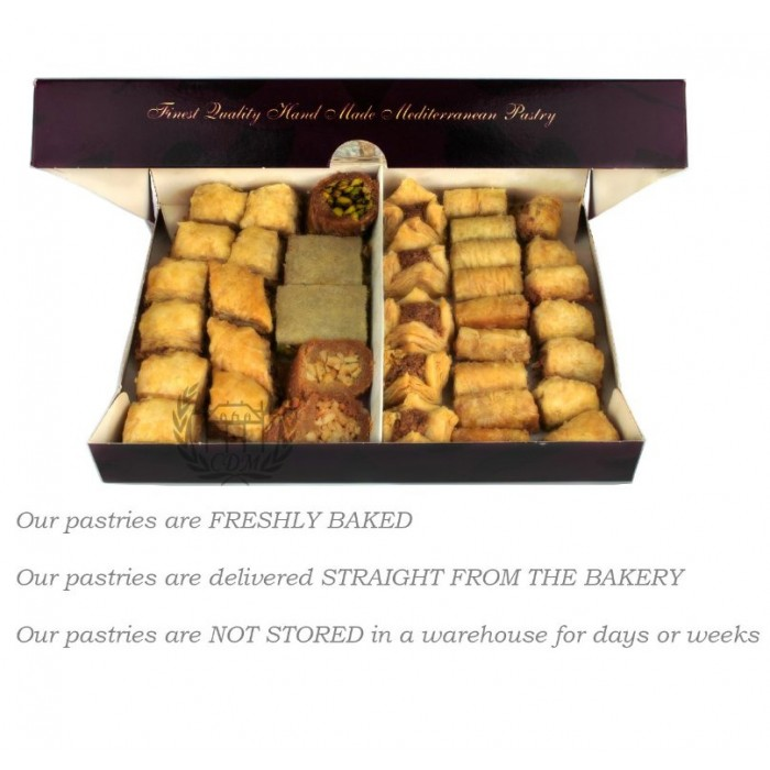 Assorted Baklawa Baklava Home Made Recipe Freshly Baked and Shipped UK 2 KG