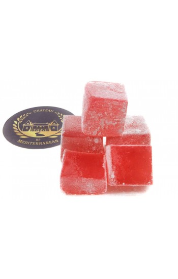 Rose Flavour | Fresh Turkish Delight | 500g | Chateau de Mediterranean | Gift Box