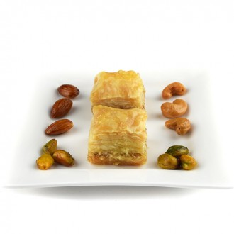 500 g Almonds Baklawa Baklava Home Made Recipe Freshly Baked and Shipped UK