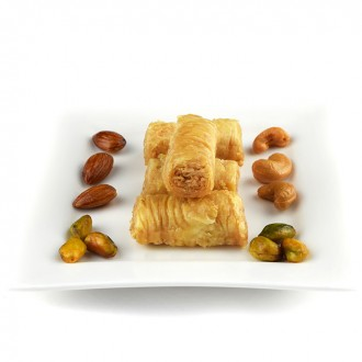 500 g Fingers Assabee Baklawa Baklava Home Made Recipe Freshly Baked and Shipped