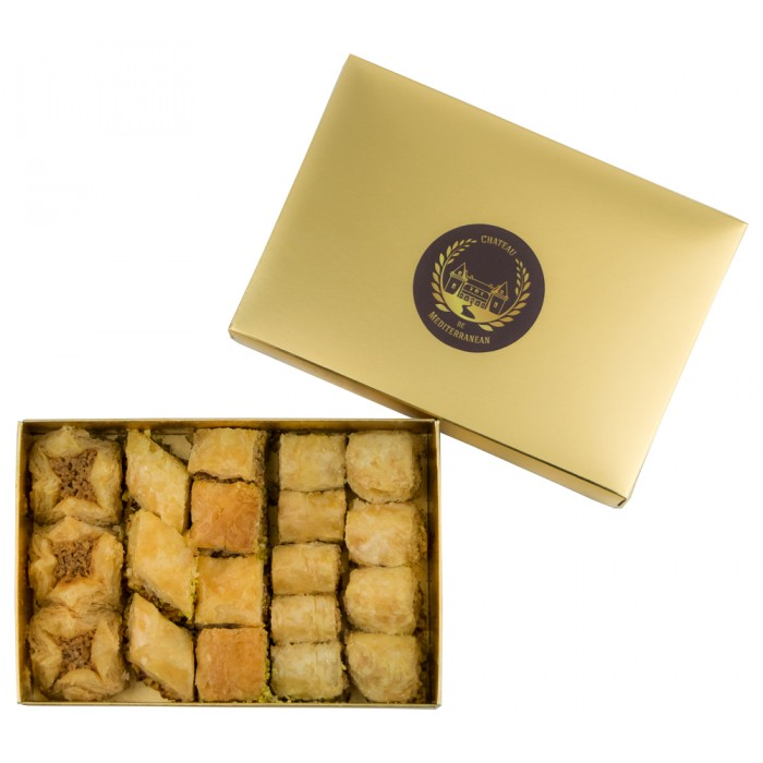 Baklava | Bites size | Baked to Order | 19 Pieces | Château de Mediterranean | Gift