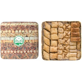 Vegan 1kg Tin box Baklawa Baklava Assorted mixture | Chateau de Mediterranean