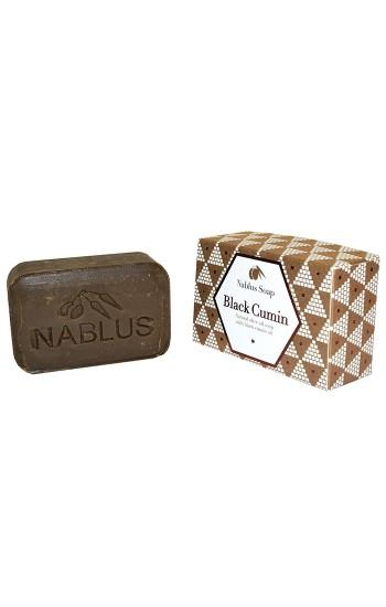 Nablus Soap   Black Cumin   Natural Olive Oil   Certified Organic and Vegan   100g