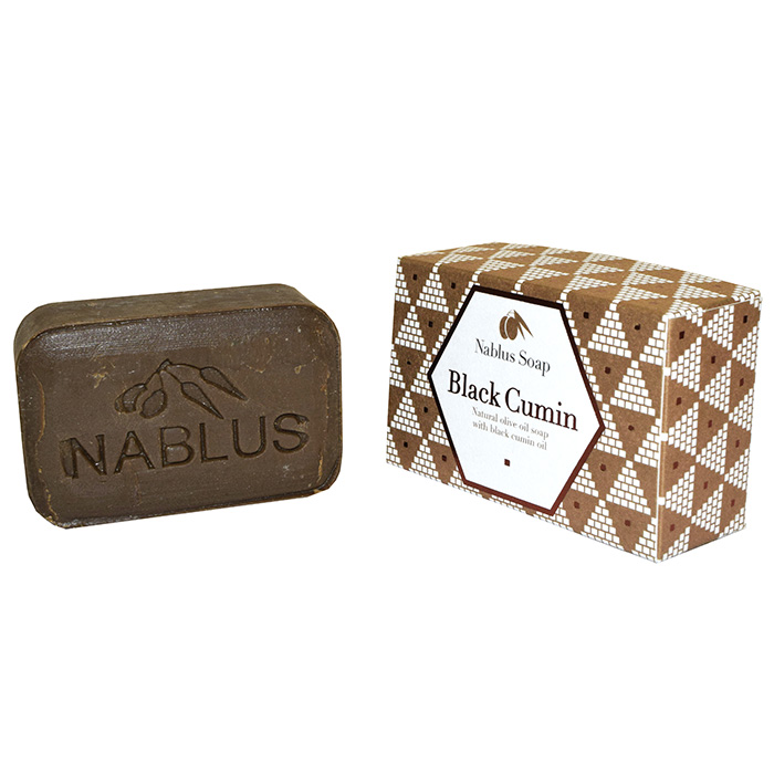 Nablus Soap | Black Cumin | Natural Olive Oil | Certified Organic and Vegan | 100g